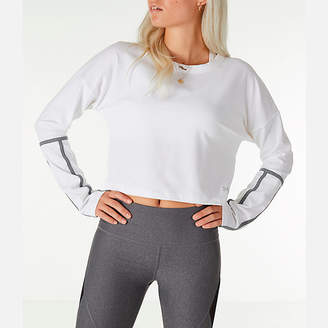 Under Armour Women's Long-Sleeve Cropped Crew Shirt