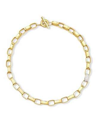 Roberto Coin Princess 18K Yellow Gold Single Diamond Link Necklace