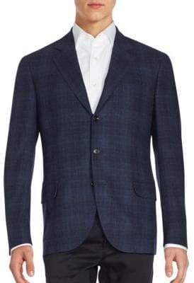Brunello Cucinelli Tonal Plaid Sportcoat
