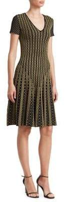 Roberto Cavalli Textured Knit Fit-&-Flare Dress