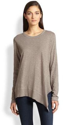 Wilt Asymmetrical Slouched Cotton Slub Jersey Top
