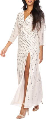 Lace & Beads Pax Sequin Maxi Dress