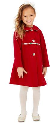 Blueberi Boulevard Toddler Girls 2-Pc. Plaid Dress & Velvet Jacket Set