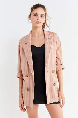 Urban Outfitters Double-Breasted Striped Blazer