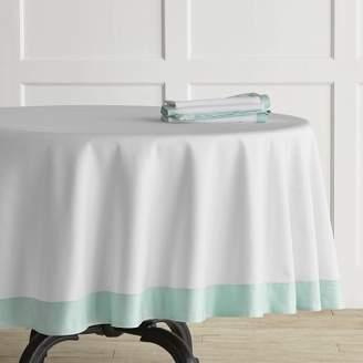 Superieur ... Williams Sonoma Williams Sonoma Bordered Hotel Round Tablecloth, Blue  Glow