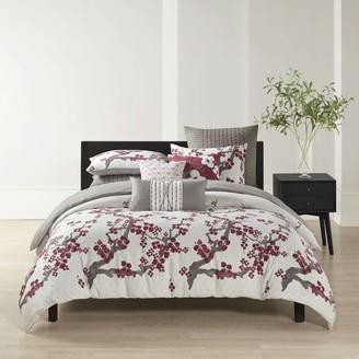 Natori N Cherry Blossom Comforter Set