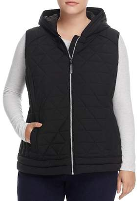 Andrew Marc Plus Performance Plus Sage Hooded Quilted Vest