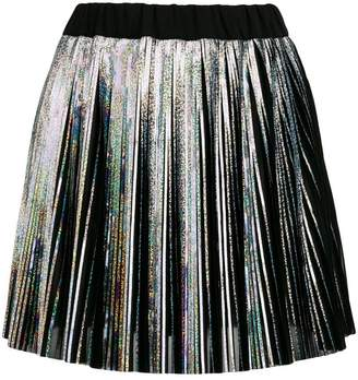 Balmain Holographic mini skirt