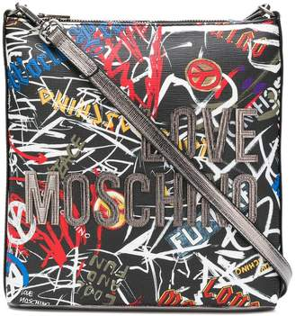 Love Moschino printed logo shoulder bag