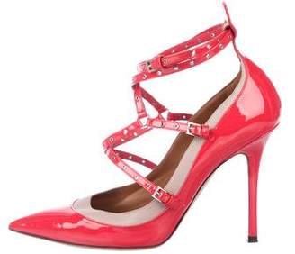 Valentino Love Latch Pointed-Toe Pumps