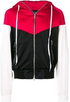 Amiri colour block bomber jacket