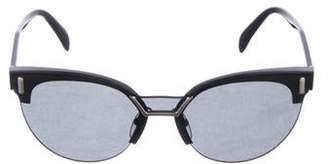 Prada Round Cat-Eye Sunglasses