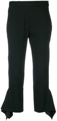 Neil Barrett asymmetric cuffs cropped trousers