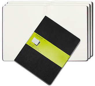 Moleskine NEW Cahier Plain Journal Extra Large Black Set 3pce