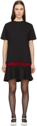 Opening Ceremony Black Elastic Logo T-Shirt Dress
