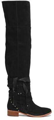 See by Chloe Studded Suede Over-The-Knee Boots