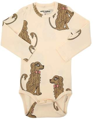 Mini Rodini Dogs Print Organic Cotton Bodysuit