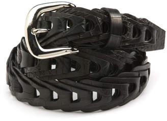 Brooks Brothers Braided Crocodile Belt