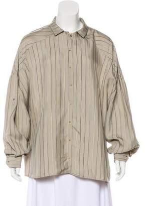 Esteban Cortazar Striped Long Sleeve Top