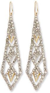 Alexis Bittar Crystal Lattice Drop Earrings $225 thestylecure.com