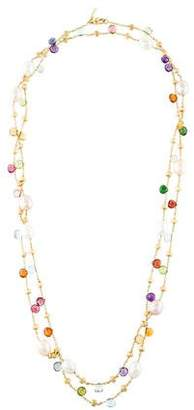 Marco Bicego 18K Pearl & Multistone Paradise Station Necklace