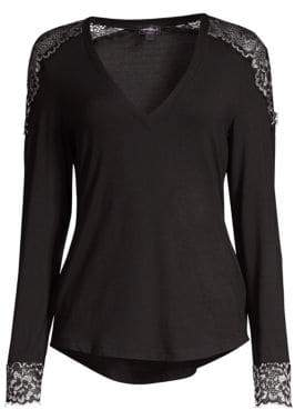 Cosabella Lace-Trimmed Lounge Top