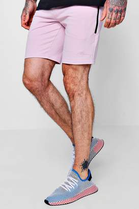 boohoo MAN Signature Mid Length Shorts With Pocket