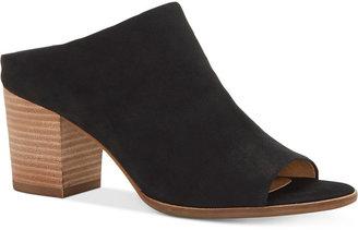 Lucky Brand Women's Organza Block-Heel Mules Women's Shoes $99 thestylecure.com