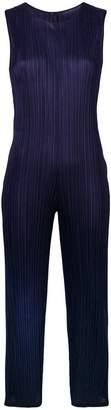 Pleats Please Issey Miyake cropped sleeveless jumpsuit