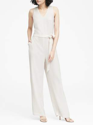 Banana Republic V-Neck Tie-Waist Jumpsuit