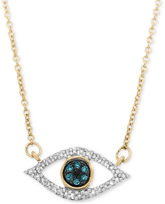 Wrapped in Love Diamond Evil-Eye Pendant Necklace (1/6 ct. t.w.) in 10k Gold