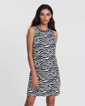 Dorothy Perkins Zebra Trim Shift Dress