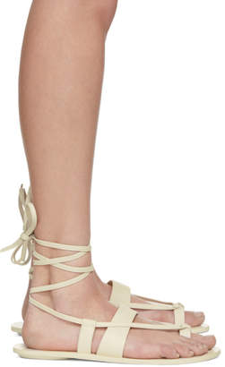 Tibi White Reid Sandals