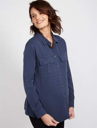 Isabella Oliver Button Front Camp Maternity Shirt
