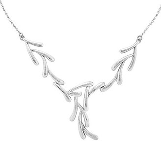"""Sterling 17"""" Textured-Finish Tree Branch Necklace"""