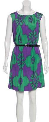 Walter Steiger Printed Silk Mini Dress