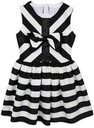 Rare Editions Stripe Satin Dress $117 thestylecure.com
