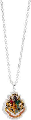 Harry Potter Silver Plated Hogwarts Crest Pendant Necklace