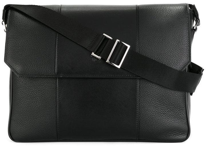 CanaliCanali logo embossed messenger bag
