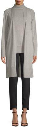 Lafayette 148 New York Long Cashmere-Blend Cardigan