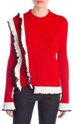MSGM Ruffled Knit Pullover