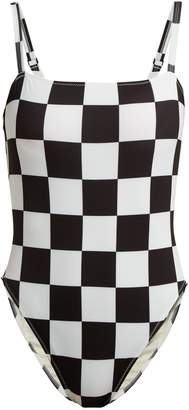 Solid & Striped X Re/Done The Malibu checkered swimsuit