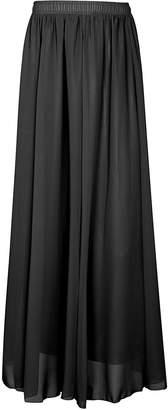 CoutureBridal Womens Summer Elastic Chiffon Maxi Skirt Bridesmaids Long Skirts Blue