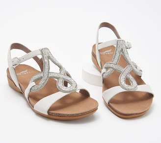 Dansko Nubuck Embellished Sandals - Reeta