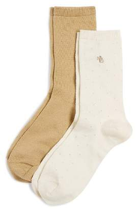 Ralph Lauren Super Soft Pin Dot Socks, Set of 2
