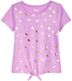 Epic Threads Big Girls Tie-Front Printed T-Shirt, Created for Macy's