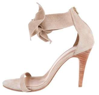 Ulla Johnson Suede Bow-Accented Sandals