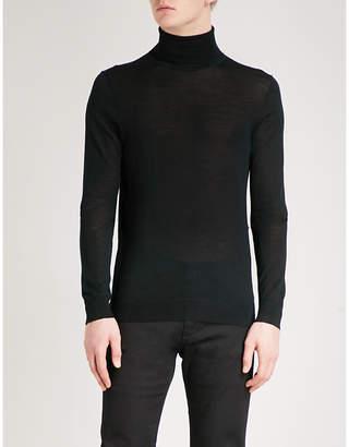 HUGO Turtleneck knitted wool-blend jumper
