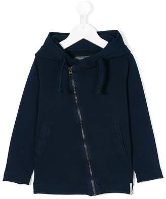 Officina 51 asymmetric zipper hoodie