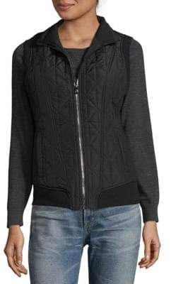 Betsey Johnson Zip Stand Collar Vest